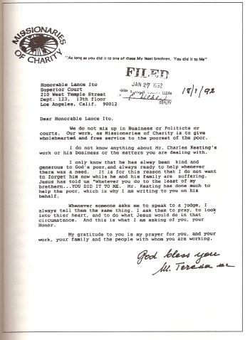 Letter from Teresa