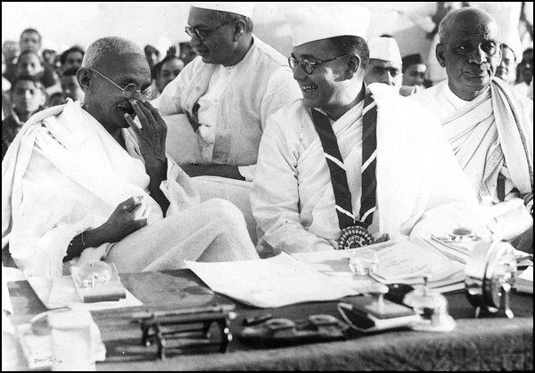 Gandhiji, Bose and Patel ... Nehru was not even in scene then.