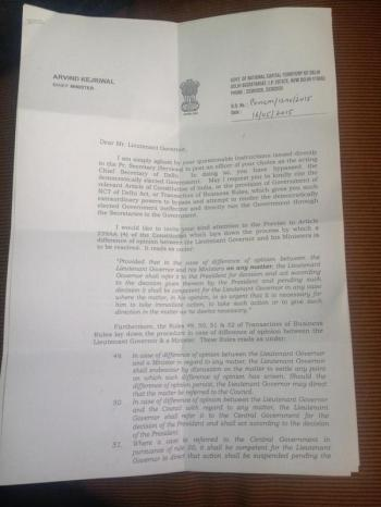 Letter from CM to LG