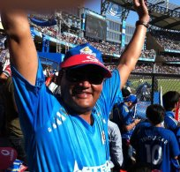 Me, at Wankhede cheering for Sachin's MI.