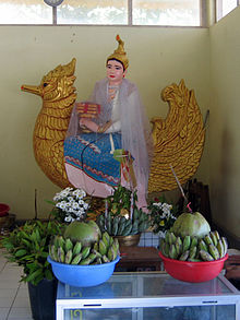 Statue of Thurathadi at Kyauktawgyi Buddha Temple (Yangon)