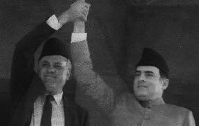 Farooq Abdullah and Rajiv Gandhi